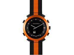 Cogito Classic Nylon - analogowy zegarek z cyfrowym wyświetlaczem dla urządzeń z systemem iOS 7 i Android 4.3 (pomarańczowy)