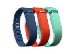 Fitbit Flex - zestaw wymiannych opasek sport dla Fitbit Flex: tangerine, navy, teal (rozmiar mały)