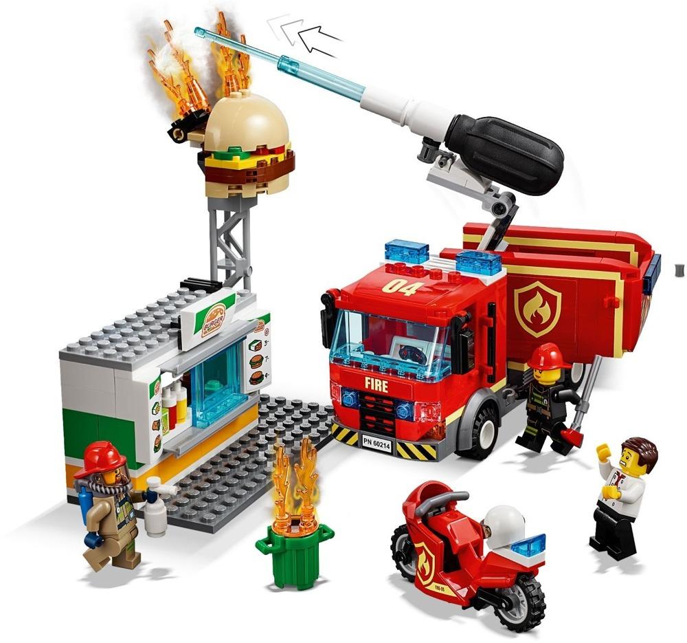 Klocki LEGO City - Na ratunek w płonącym barze - 60214