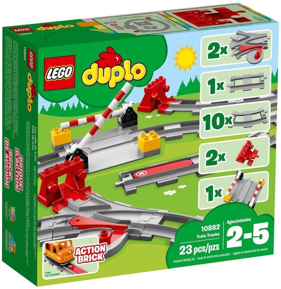 Klocki LEGO DUPLO - Tory kolejowe - 10882